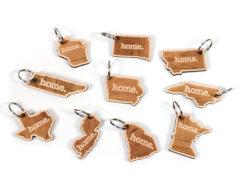 Wooden Keychains - Choose Your State! — Home State Apparel ® 19424885e19a