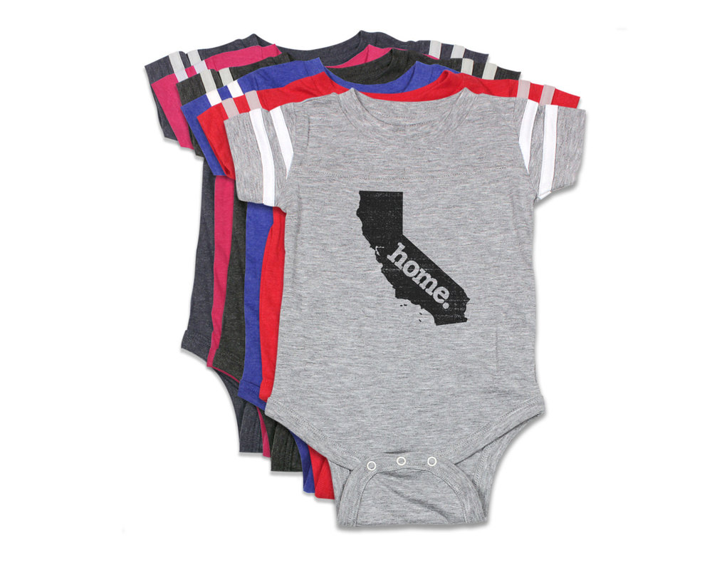 7c388ba54 Football Baby Bodysuit - Born. and Home. — Home State Apparel ®