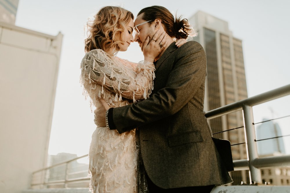 C  olorful Urban Engagement // Rae + Michael