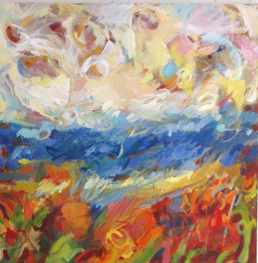 Ocean Energy  48 x 48 inches Oil on Canvas 2011