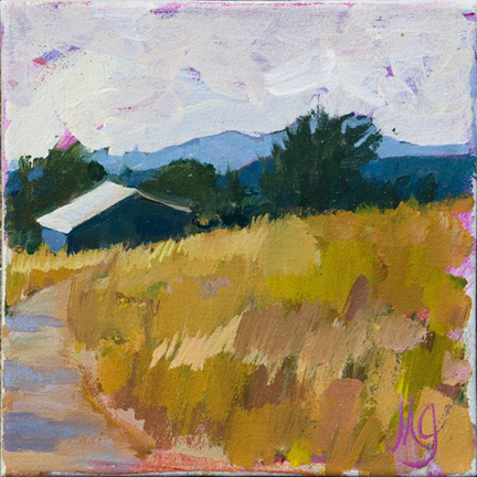 Hill Country  8 x 8 inches Oil on Canvas 2011