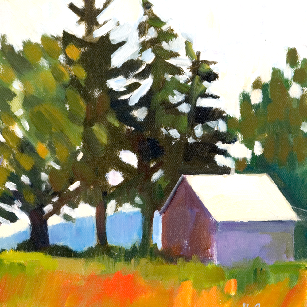 Highway Barn  Oil on Canvas 2009