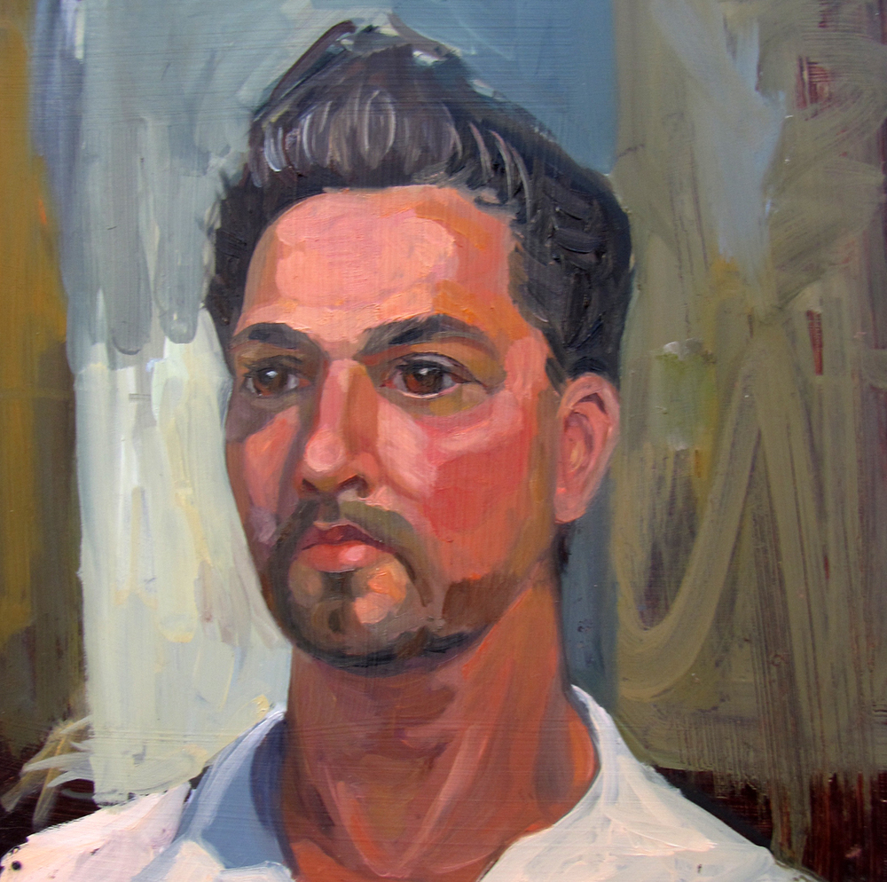 Man  12 x 12 inches Oil on Board