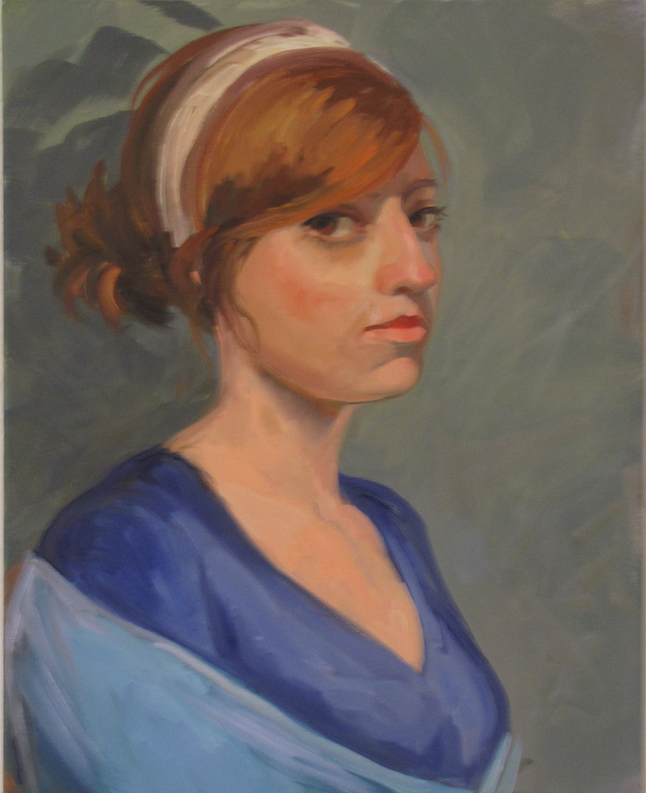 Portrait of a Young Lady  20 x 16inches Oil on Canvas 2010