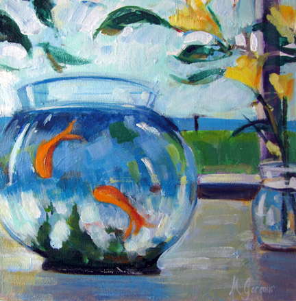 Bekeley Fish  12 x 12 inches Oil on Canvas 2010