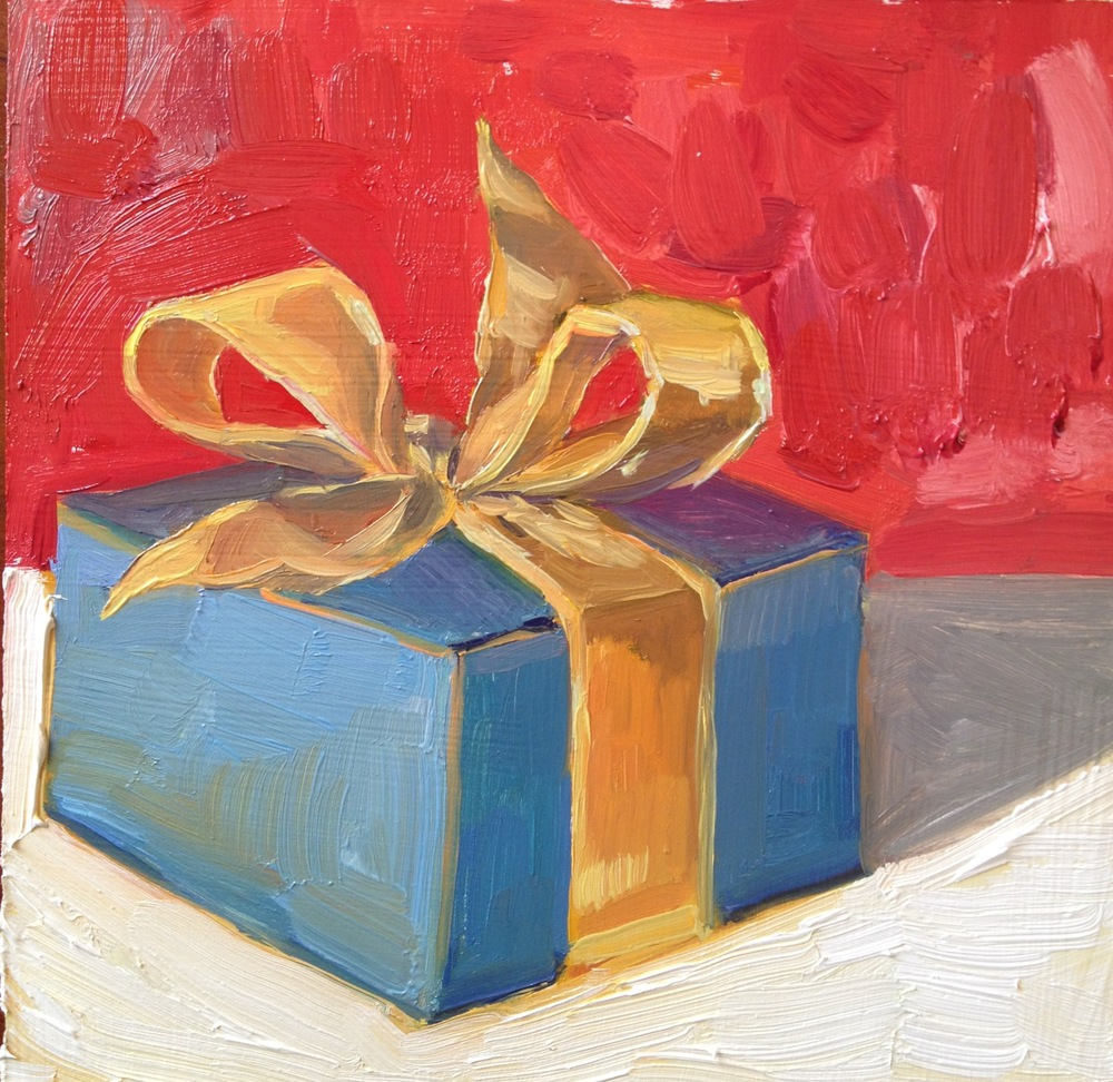 My Gift to You  6 x 6inches Oil on Canvas 2012