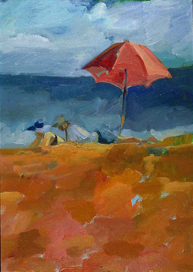 Beach in Marin  Oil on Canvas 1998