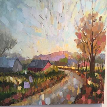 Autumn Revised Oil on Canvas  36 x 36in   $1900 © Marianne Gargour,