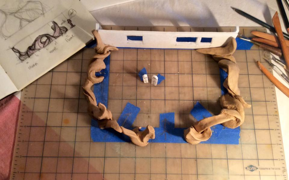 Plasticine models