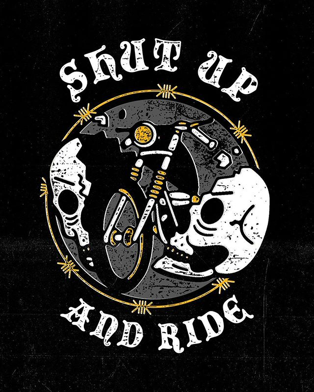 Shhhhhh! 🙊 . . . . . #shutup #ride #skull #chopperlife #chopperart #caferacer #caferacerarts #graphicdesign #artwork #motorcycle #ftw #bobber #tattoo #traditionaltattoo #destroy #motorcycleart #bncnation #deus #deusart #rider #graphicart #gigposter #oneword17 @itsnicethat