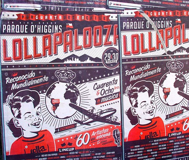 Recuerdo del 2014 para @lollapaloozacl 👴🏼 Ahora con nuevas sorpresas para la version 2018 👊🏼 atenti! 👊🏼#lollacl #lollapalooza #chile #poster #posterart #gigposter #vintage #lollapaloozachile #street #graphicart #graphicdesign #posterdesign #music #festival #chicago #santiago