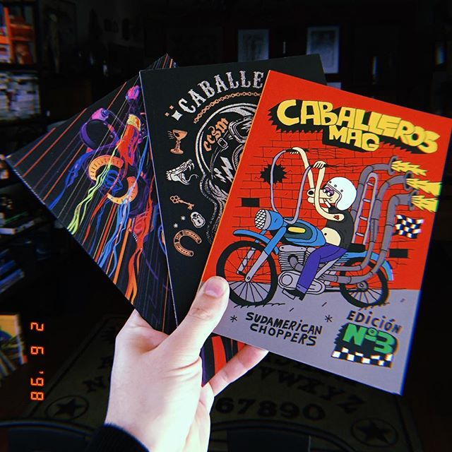 Proud @caballerosmag ❤️🏁💨 #caballerosmag #ccsm #editorial #magazine #motorcycle #lifestyle #true #editorialdesign #illustration #cover #kustomkulture #kustomkulturechile #kustomkultureargentina