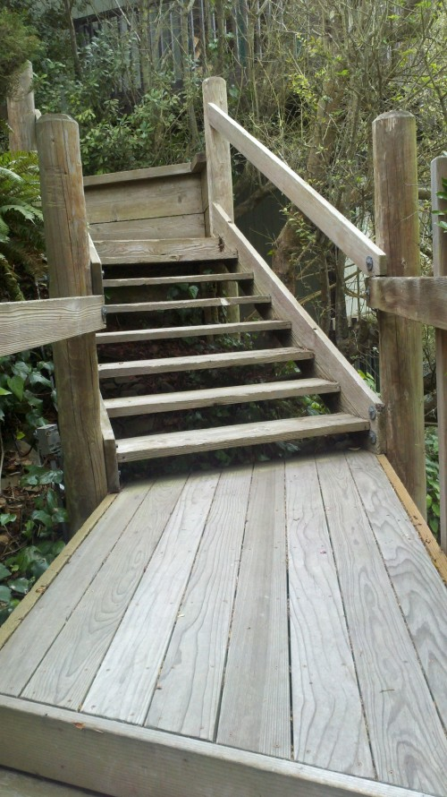 Outdoor Curved Stair Lift San Francisco, First platform