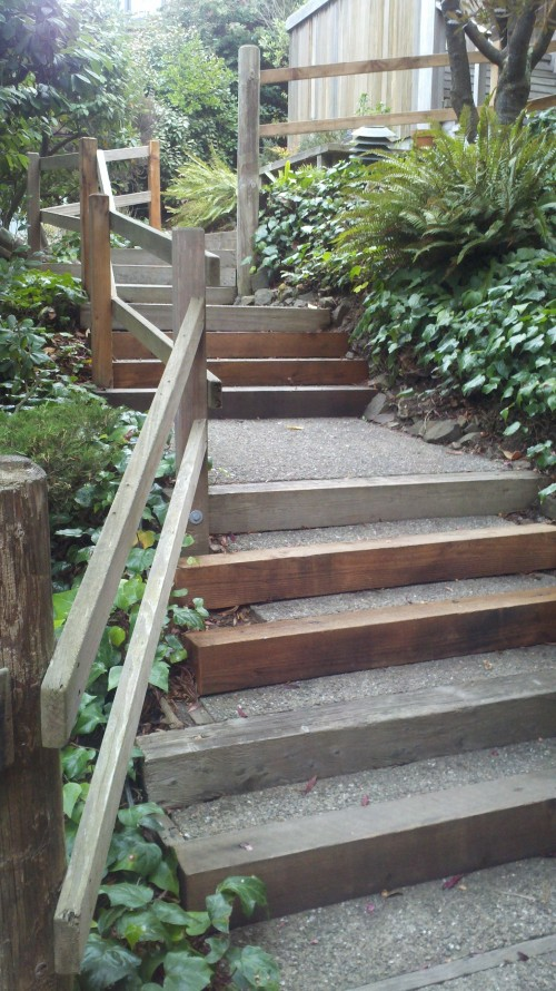 Outdoor Curved Stair Lift San Francisco, Up from the turn