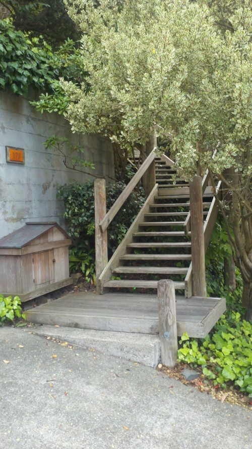 Outdoor Curved Stair Lift San Francisco, Bottom Landing