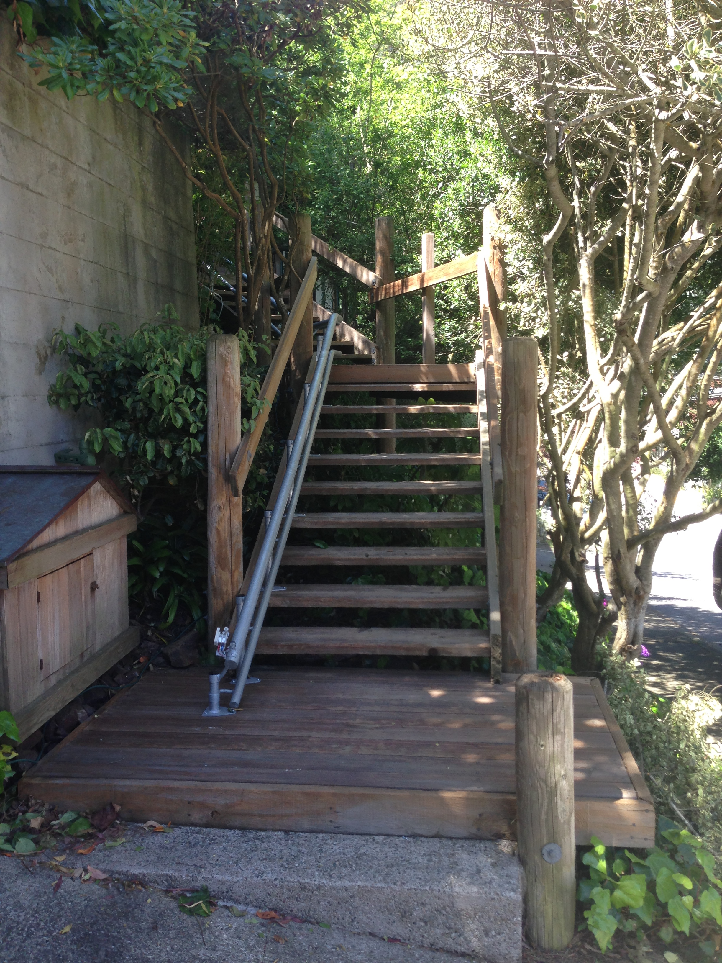 Update Outdoor Curved Stair Lift In San Francisco Home Elevators Stair Wheelchair Lifts