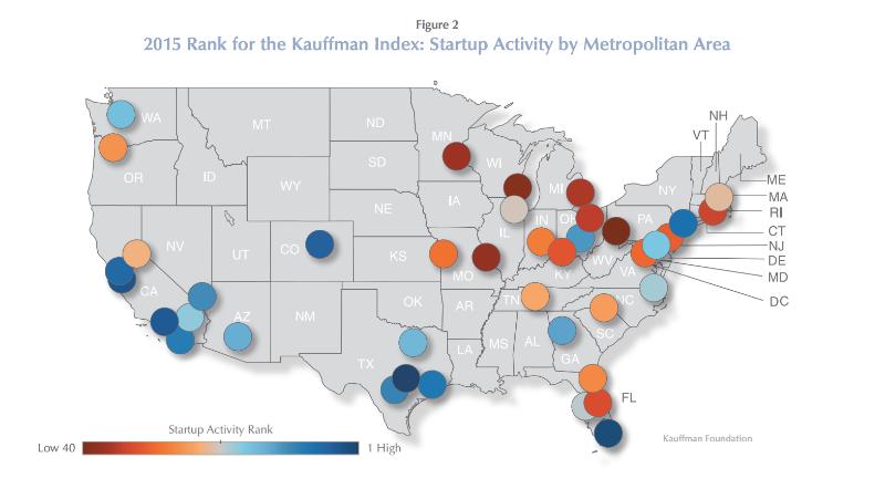 2015 Kauffman Index: Startup Activity by Metropolitan Area