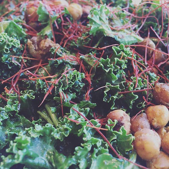All hail kale. #kale #salad #yum #tasty #healthy #fresh #greens #yyc #yyceats #yycliving #yycsummer #redhotsummer