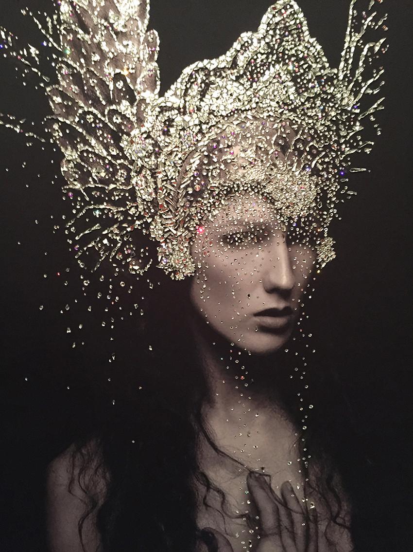 LEONE - VanitartCollezione Le Regine GuerriereMisura 70x100 cmLavorazione in cristalli Swarovski e Specchi