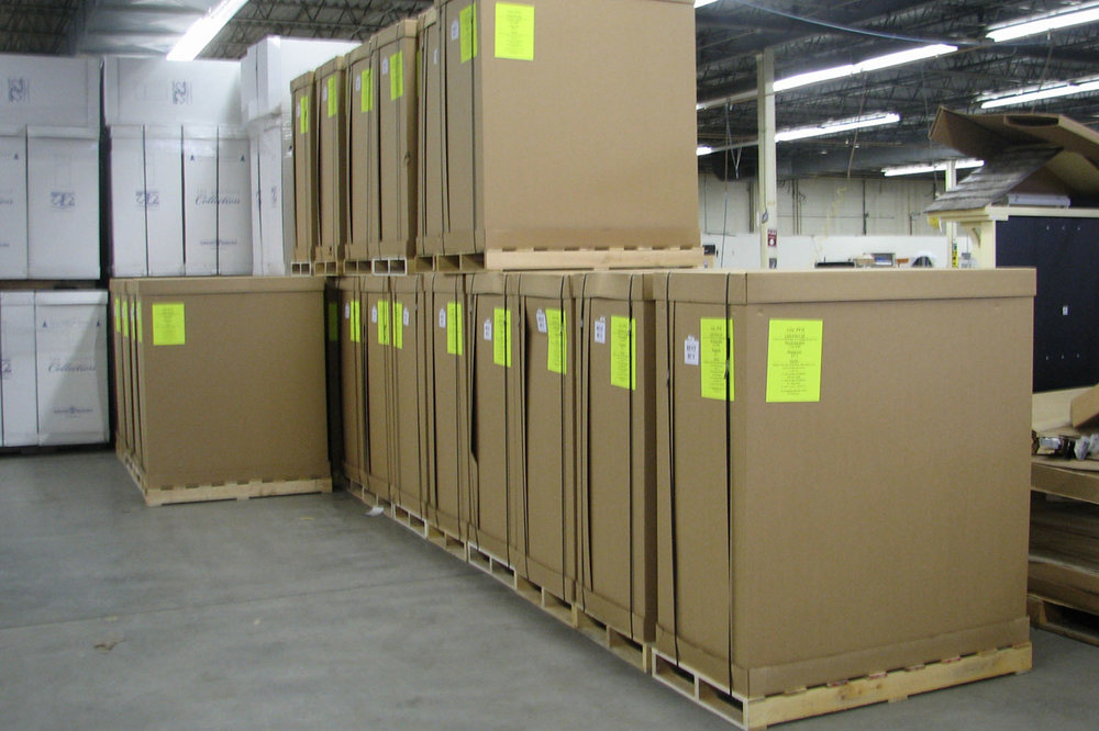 • Packing engineered and tested for safe arrival at retail • Drop shipping and warehousing for future fulfillment, are available options