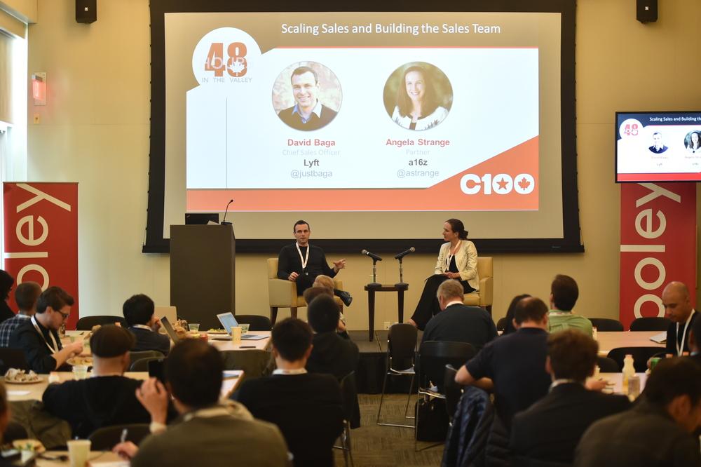 David Baga, Chief Sales Officer at Lyft and Angela Strange, Partner at Andreessen Horowitz