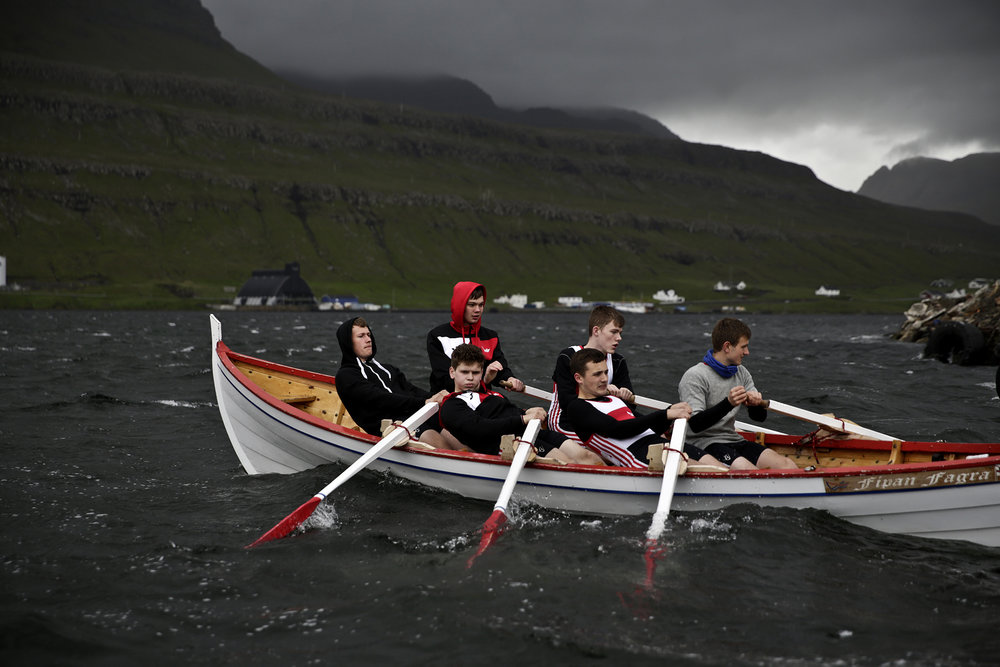Rowing crew at The Faroe Islands.