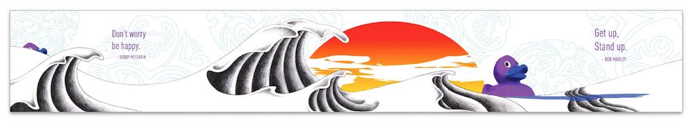 Mural 2: Rubber Duck Waves