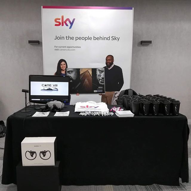 Back out with Sky today in #glasgow providing #virtualreality at the Woman in Tech conference #hire #VR #Scotland