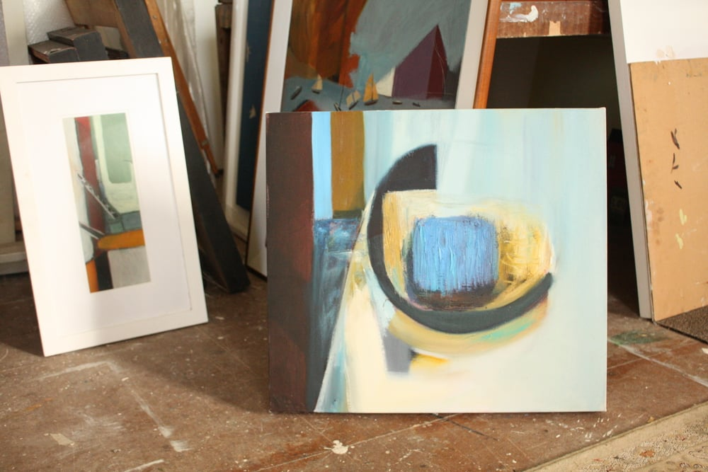 All the above photos are of Heath's studio and work in progress.