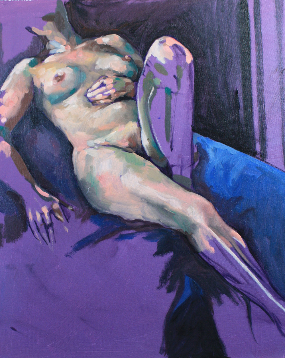 Purple Nude Reclining