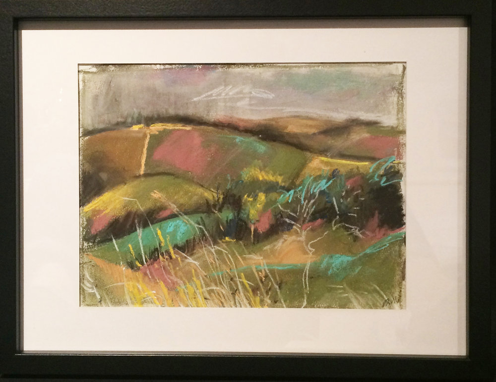 Devils Dyke Pastel Drawing