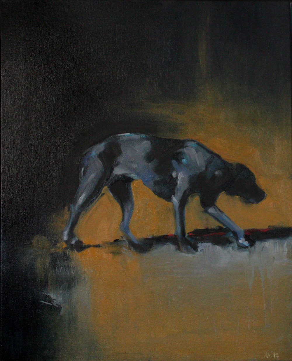 Study of a Black Dog #1