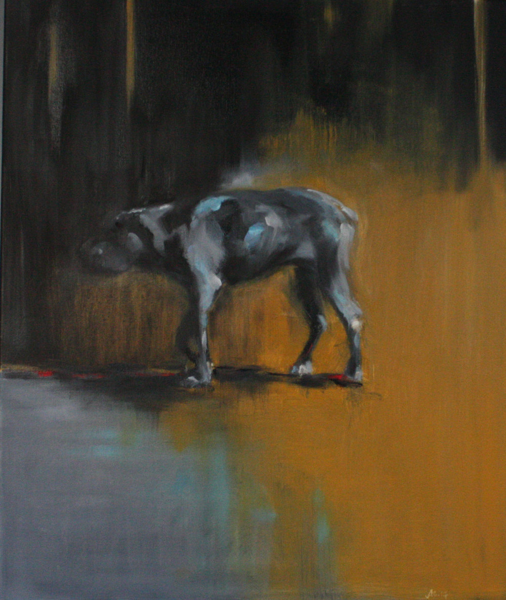 Study of a Black Dog #2