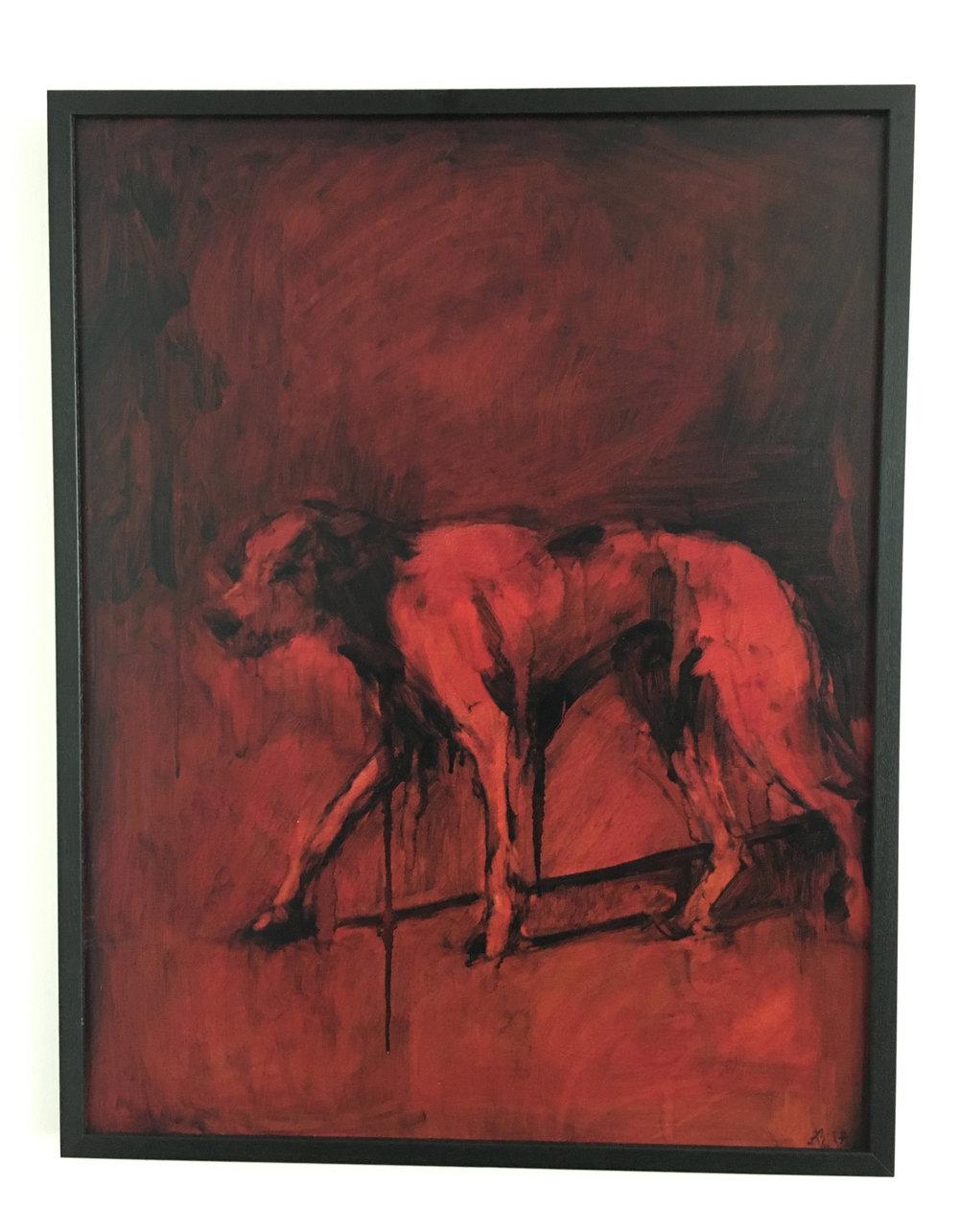 Study of a Black Dog No.3