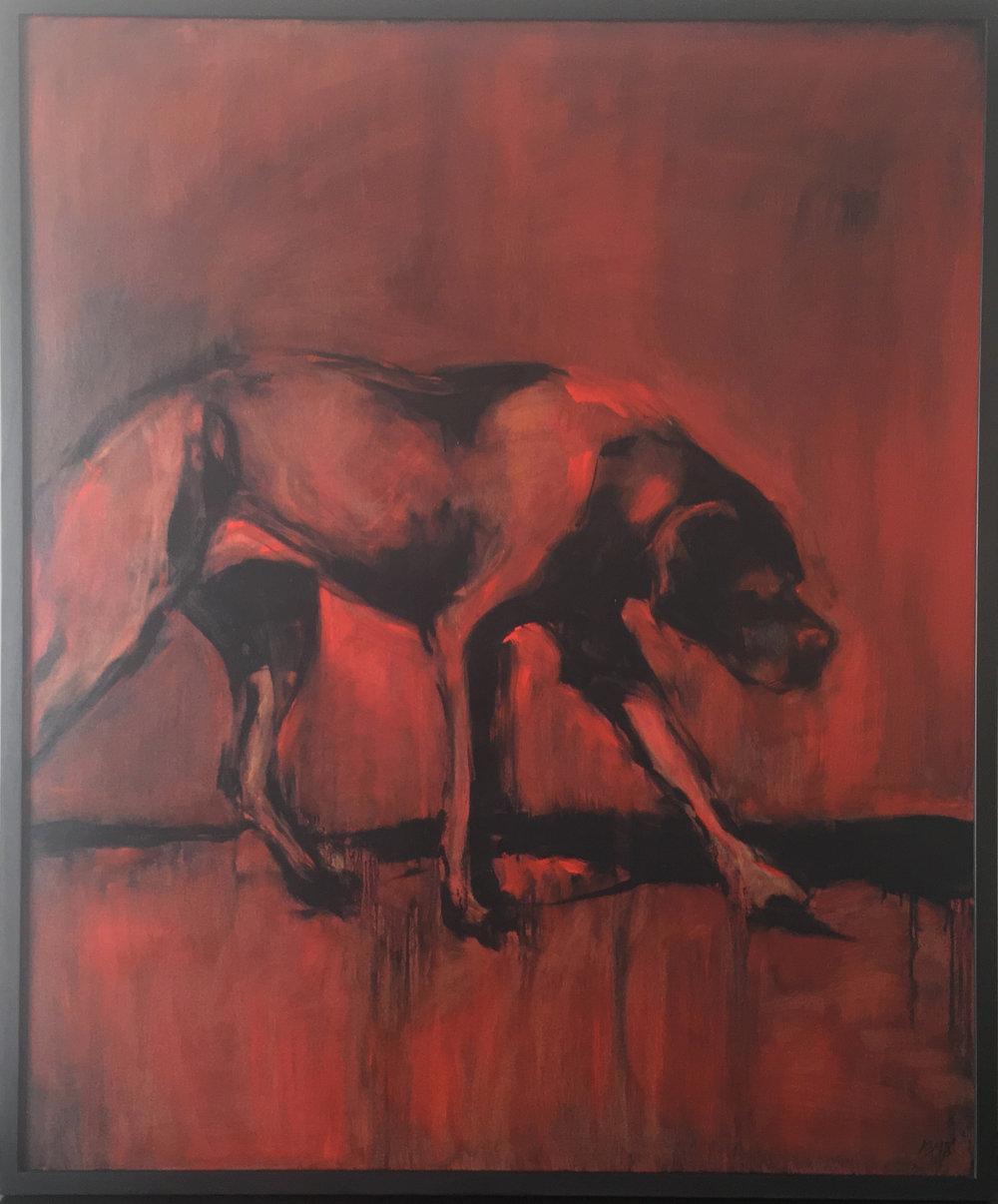 Study of a Black Dog No.5