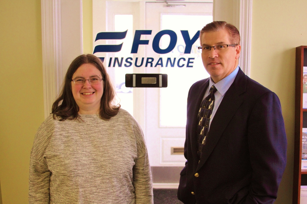 Jen, INCOME Graduate & Peter Camello, Foy Insurance