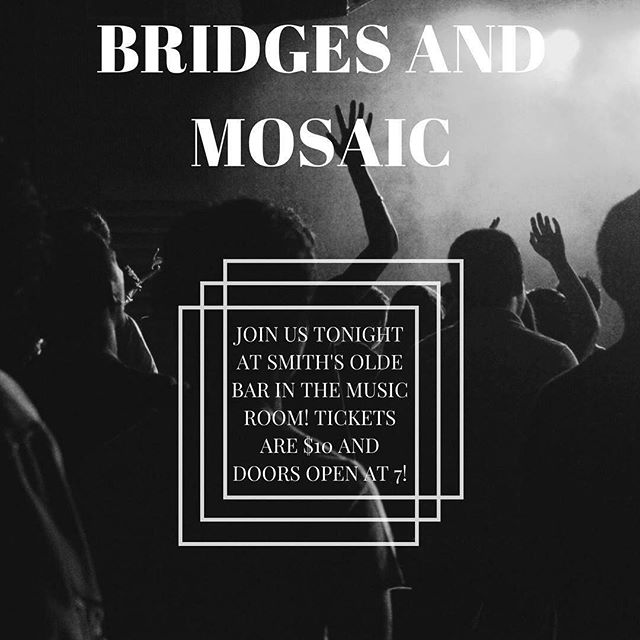 Make sure to join us down in ATL tonight with our pals Bridges at Smith's Olde Bar--tixs are $10 and doors open at 7! See you all there!