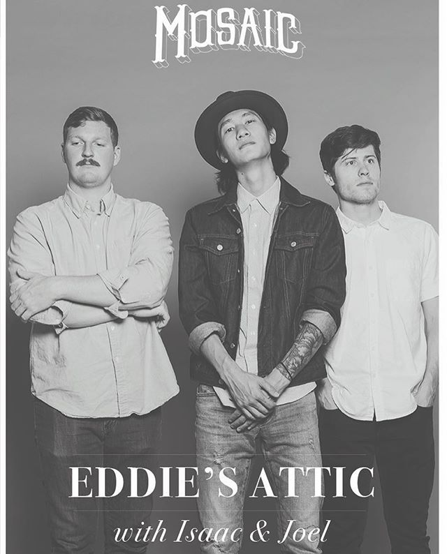 We're back ATL! Wednesday 23 at @eddiesattic in Decatur. @isaacandjoel opening up. Get your tix, link in bio 👆