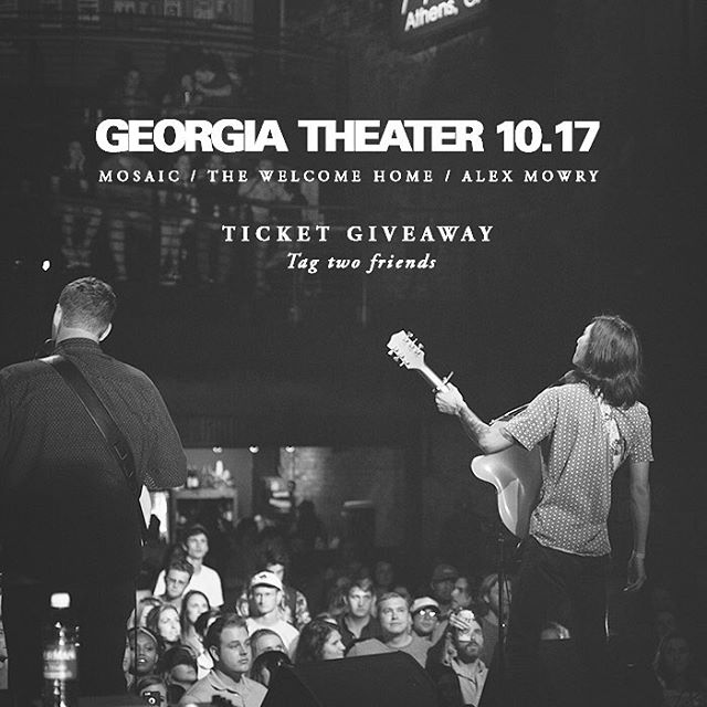 We are giving away some tickets to next Tuesday's show with @thewelcomehome And @alex_mowry at the @georgiatheatre. comment below, tag 2 friends, and slap on your favorite emoji for a chance to get free tickets for you and your homies. We call dibs on ❤️️ . 6 more days!