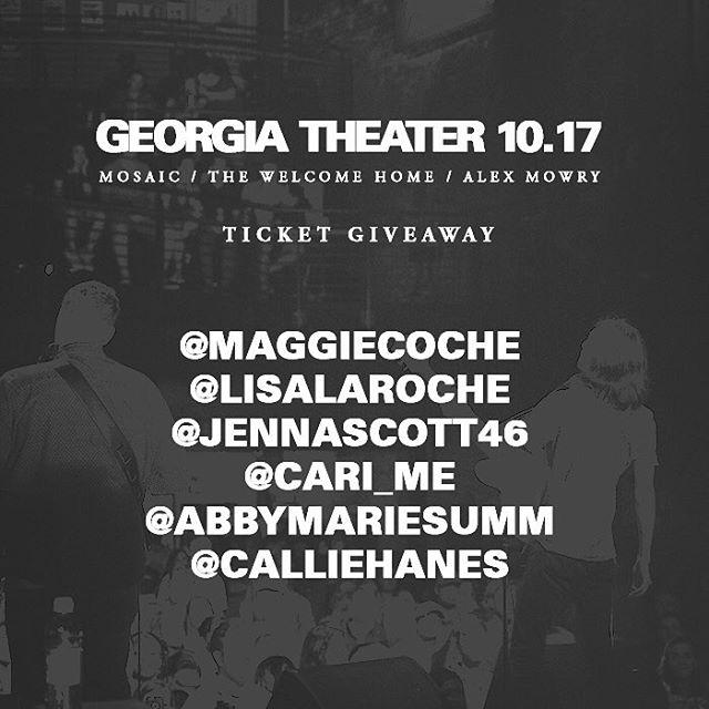 Congrats to @maggiecoche @lisalaroche @jennascott46 @cari_me @abbymariesumm @calliehanes ! You have won free tickets to tomorrow's show! Thanks to everyone for your emojis :) let's rock tomorrow!!! 🤘🏽