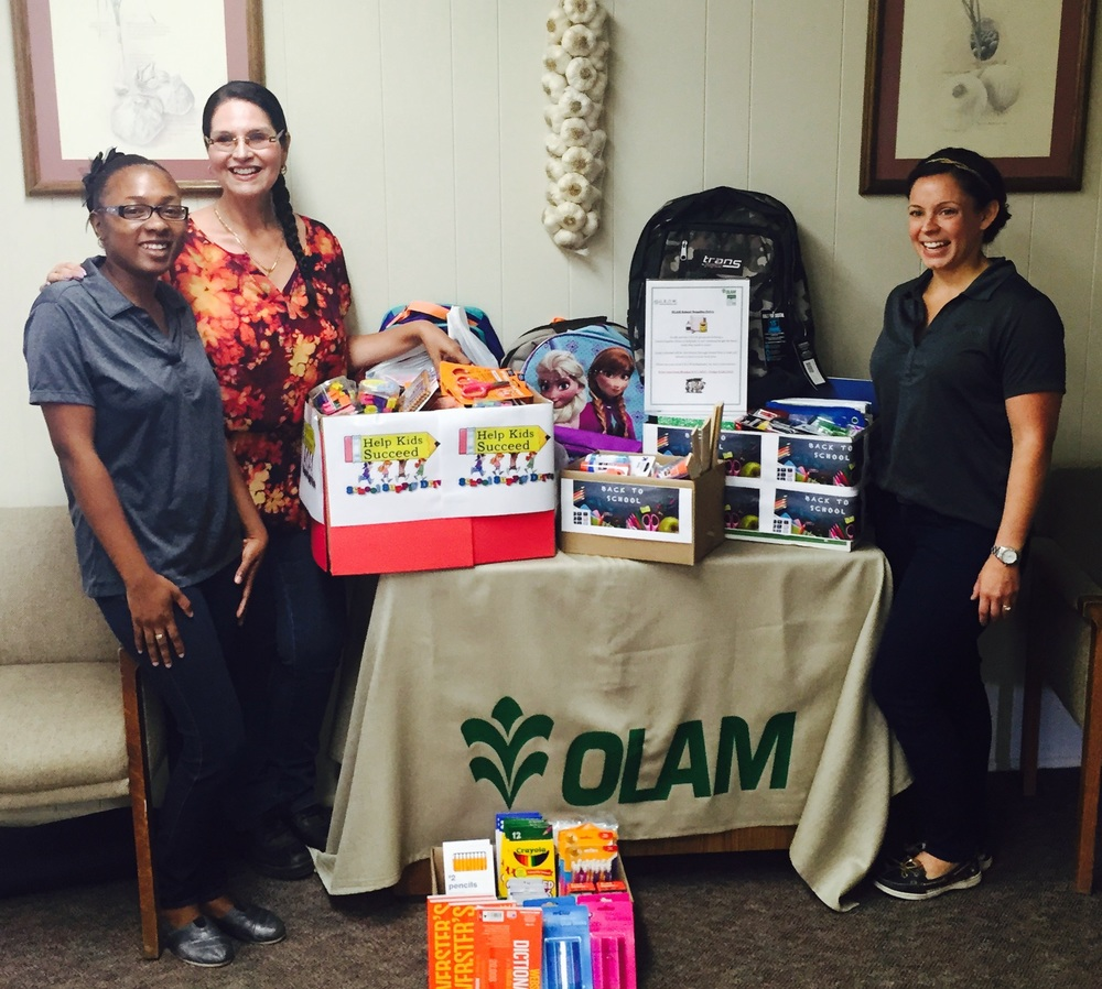 Olam Spices and Vegetable Ingredients in Hanford sent us home with BOXES of school supplies from their back to school drive. These supplies will be put to good use by St. Vincent de Paul! (*We're so excited we don't know where to look!)