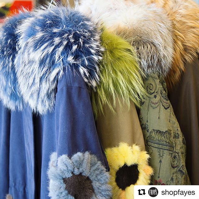 I've been working with/drooling over these incredible fur coats all week. @shopfayes partnering with Di Bello furs has been an awesome experience! #shopfayes #milwaukeeboutique #shoplocal #dibellocoats