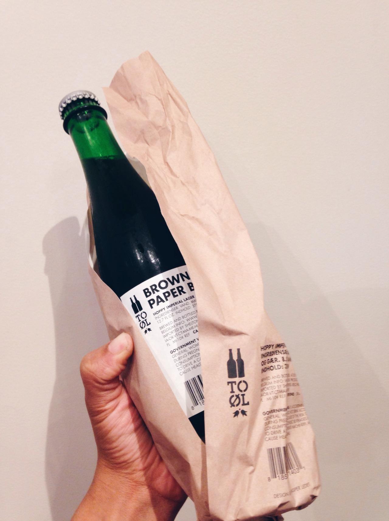 To Øl Brown Paper Bag   Sexiest Brown Paper Bag