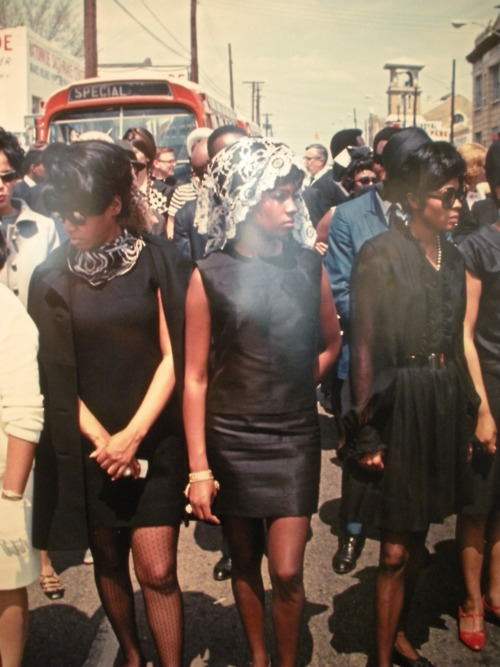 The Supremes at Martin Luther King's Funeral 1968