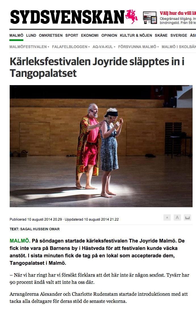 Sydsvenskan 10 augusti 2014
