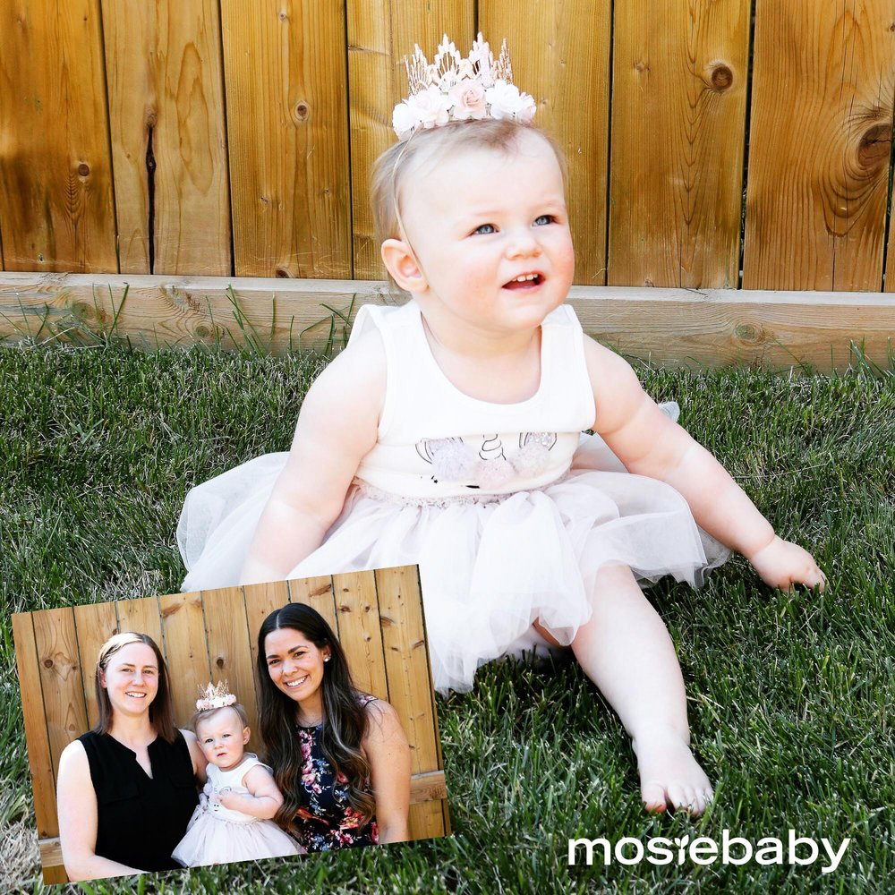"""BABY UPDATE!!! Baby """"C"""" is officially a one-year-old...HappyBirthday beautiful! And guess what she's getting for her birthday? A sibling! That's right, MosieBaby number two is on the way for this growing family. We that you guys made us a part of your journey. You are an inspiration!"""