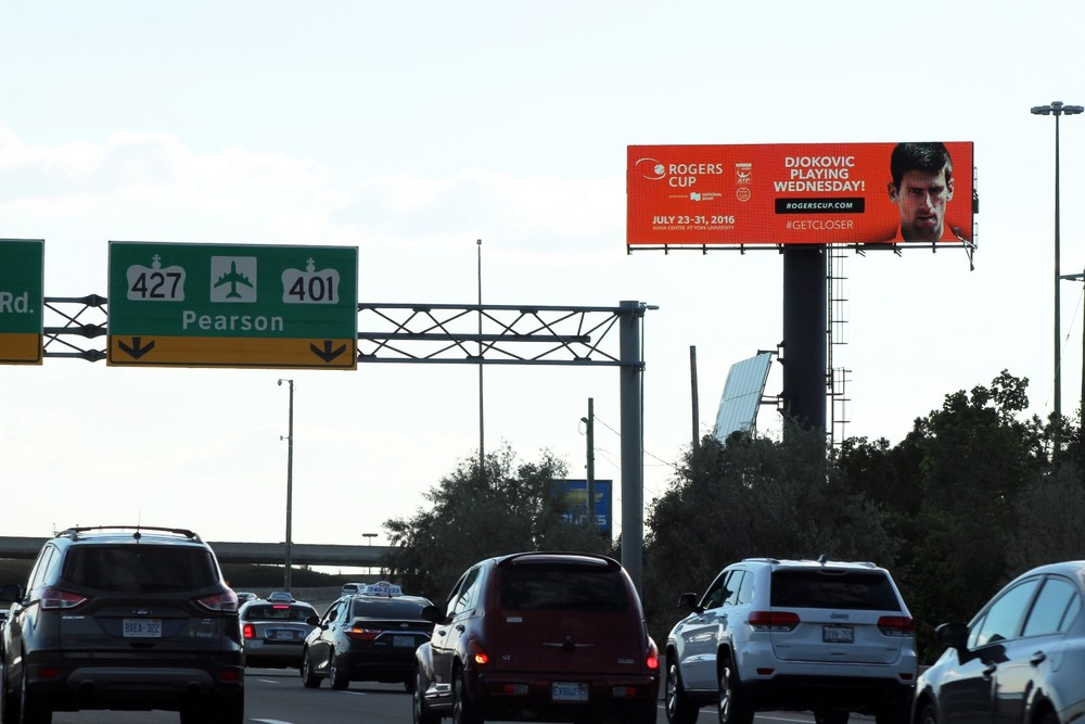 Digital Ad on Gardiner Expressway