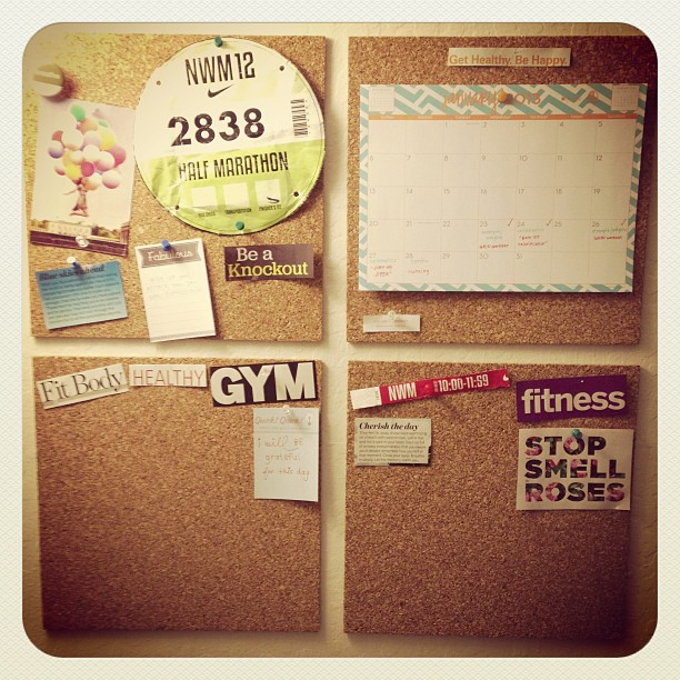 The start of my Health and Fitness Inspiration board! What's on yours? I need more ideas. :]
