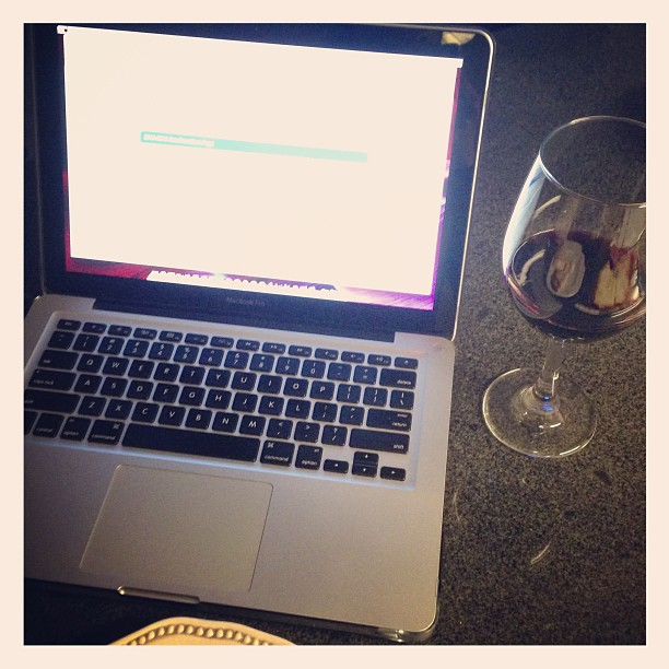 Applying for Fin Aid and filing the FAFSA. NEED WINE.