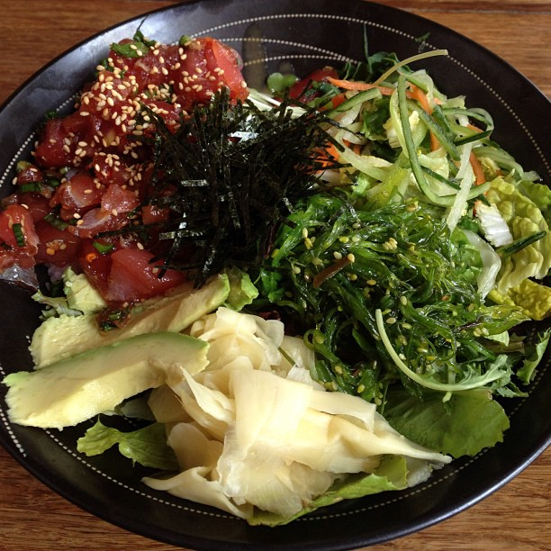 Hawaiian poke wasabi bowl. :] (at Pacific Catch)